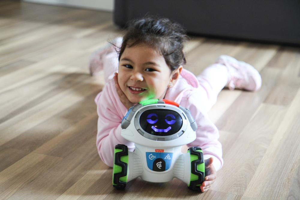 Chloe Parodi, digital modern family, fisher price, roby robot